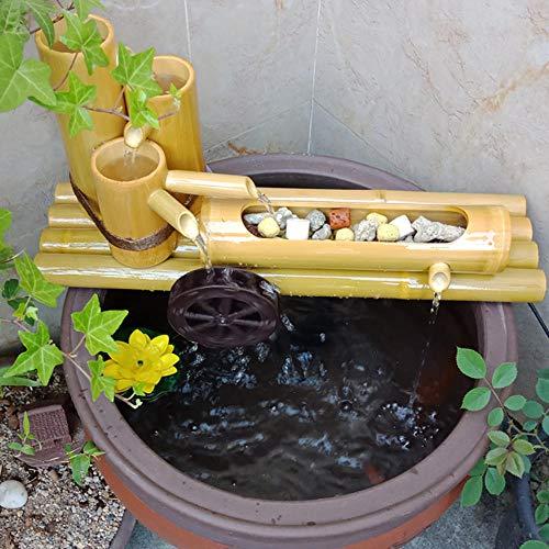 QXPuSS Aquarium Wasserspiel, Bomboo Gartenbrunnen, Japanischer Stil Für Teich Pool Terrasse Balkon-70 cm