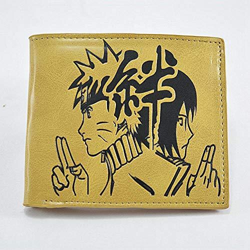 Twhoixi Portatarjetas de Cuero de Dibujos Animados Naruto Hentai Japanese Anime Wallet ID Card Holder Pocket Money Monedero Presente para Hombres Mujeres