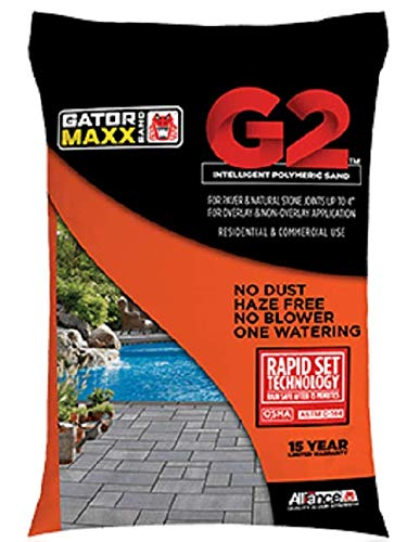 """Alliance Gator Maxx G2 Intelligent Polymeric Sand for Paver and Natural Stone Joints UP to 4""""(Slate Gray) 50 Ib Bag"""