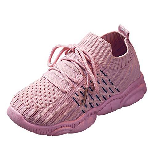 Lazzboy Kinder Baby Mädchen Jungen Mesh Run Sport Turnschuhe Freizeitschuhe Sportschuhe Ultraleicht Hallenschuhe Atmungsaktiv Laufschuhe rutschfest Outdoor Sneaker(Rosa,29)