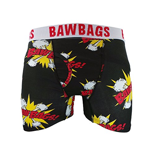 Bawbags Fitted Boxers - Kapow Black