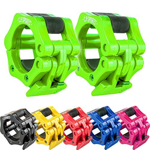C.P. Sports Schnellverschluss für Hanteln 30 mm I praktischer Hantelverschluss mit Einhandmontage für sicheres Training & schnellen Scheibenwechsel I robuste Kunststoff-Hantelklemme, gelb