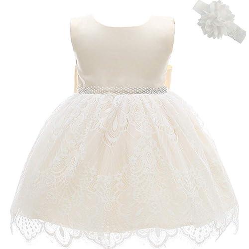 7ec62b163732 Dream Rover Abiti da Battesimo per le Neonate Principessa Abito da Sposa  per Bambini Festa di
