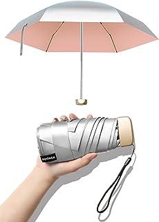 【2021夏日限定】日傘 UVカット100% 超軽量 折りたたみ傘 レディース 完全遮光 紫外線遮断 小型 メンズ 晴雨兼用 耐風撥水 携帯便利 おりたたみ コンパクト 日焼け防止 プレゼント ギフト 収納ポーチ付き ピンク