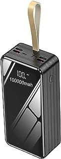 Bärbar laddare, Power Bank 80000mAh Högkapacitet Extern snabb Laddning, Telefon Batteri Backup Batteri Snabbladdning C Typ...