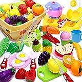 Airlab Juguetes de Cocina niños, vajilla para Cortar Frutas, Verduras, Comida, Juguetes de Cocina, Juego de simulación, Juguetes educativos, Regalo