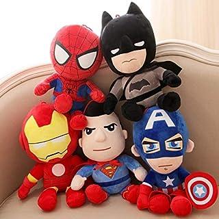 QZ Marvel's The Avengers Cartoon Batman Superman Iron Man Plush Stuffed Toys (Color : Spider Man)