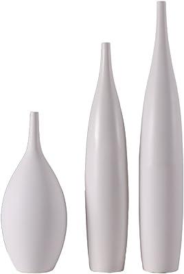 YBWEN Jarrones 2 PCs Modernos Decorativo florero de cerámica de ...