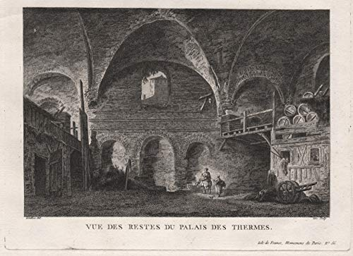 Vue des Restes du Palais des Thermes. - Paris Thermes de Cluny Ansicht view vue