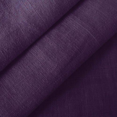 STOFFKONTOR 100% Leinenstoff - edler Naturstoff - vorgewaschen - Meterware, dunkel-lila - zum Nähen von Kleidern, Röcken, Trachtenmode