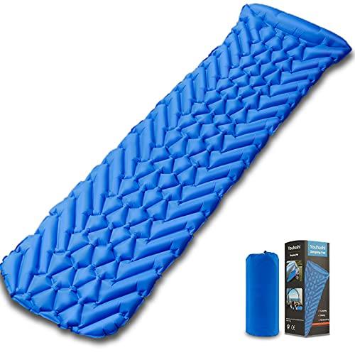 Camping Sleeping Pad, Ultralight Sleeping Mat for Backpacking, Hiking Air Mattress - Extra Long, Lightweight, Inflatable & Compact Camp Sleep Mat, Self Inflating Camping Pads