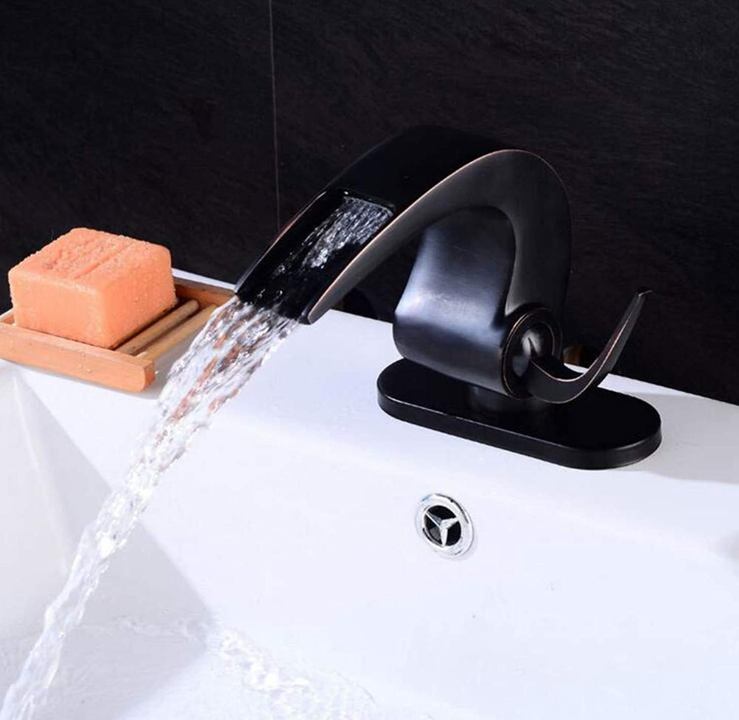 Mixer Basin Taps Faucet Retro Black and Cold Water Single Hole Cloakroom Kitchen Lavatory Sink Mixer Tap
