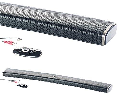 auvisio Sounddeck: 2.1-HiFi-Soundbar MSX-550.cv für Curved-TV, 120 Watt, mit Bluetooth (TV-Lautsprecher-Soundbar)