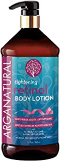 Arganatural Tightening Body Lotion with Retinol, Caffeine & Hyaluronic - Noticeably Tightens & Nourishes Aging Skin, Norma...