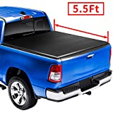 AUTOSTARLAND 5'5' Soft Tri Fold Truck Bed Tonneau Cover Fits for 2004-2014 F-150/2006-2014 Lincoln Mark LT