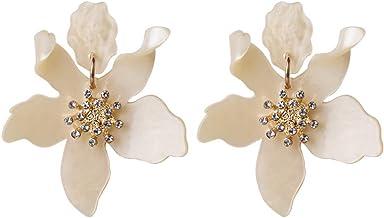 mocca dahlia resin Earrings souvenirs gift flower earrings chrysanthemum antique style coffee brown bronze stud earrings earrings