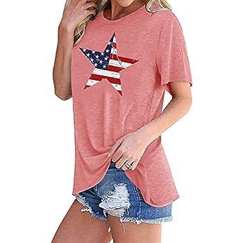 Women s July 4th USA American Flag T-Shirt Blouses White Maxi Dress for Women Women S Dress Women S Sundress Birthday Dresses for Girls Towel Dress