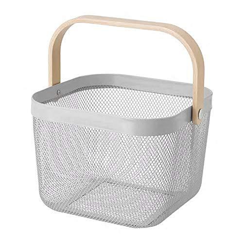 IKEA/イケア RISATORP :バスケット25x26x18 cm グレー (804.877.52)