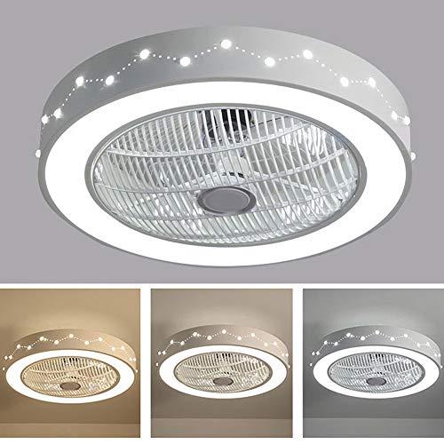 Deckenventilator Mit Beleuchtung, Deckenventilator LED-Licht, Einstellbare Windgeschwindigkeit, Dimmbare Fernbedienung, 48W Moderne LED-Deckenleuchte, Leises Stufenloses Dimmlüfterlicht