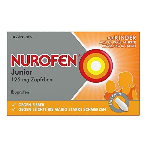 Nurofen Junior 125 mg Zäpfchen, 10 St. Zäpfchen