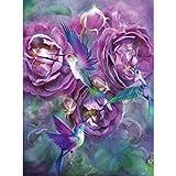 Diamond Pintura kits de bricolaje 5D para los adultos, los niños, los principiantes. Home Office Decortaion. Presenta regalo para ella él Purple Flower 11.8x15.7in 1 Pack By Injoyser