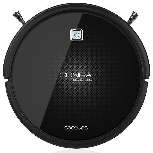 Cecotec Conga Serie 990 Excellence - Robot aspirador que friega, con 4 cepillos laterales,