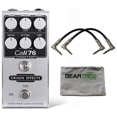 Origin Effects Cali76 Compact Bass Compressor Pedal w/Patch Cables and Cloth