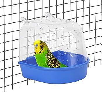 Baignoire à suspendre pour perroquet, baignoire à oiseaux, baignoire pour oiseaux, cage à oiseaux, accessoire pour Munia, pinson, perruche, psittacule, agapornis et Lark