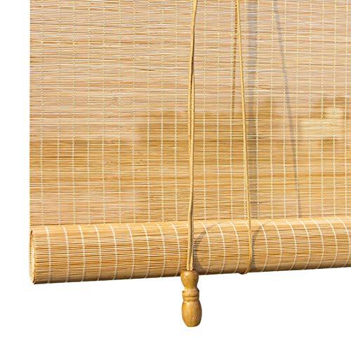 ZXLL Cortina De Bambú,Terraza Interior Balcón Exterior Cocina,Persiana Enrollable De Bambú,Resistente A La Lluvia,persiana Enrollable,Respirable,Persiana Estor Enrollable De Bambú Natural