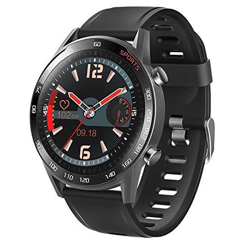 TIMAW Reloj inteligente para hombres, pantalla táctil completa actividad rastreador de ritmo cardíaco Monitor de ritmo arterial Fitness Smartwatch, reloj a prueba de agua Reloj deportivo con cronómetr
