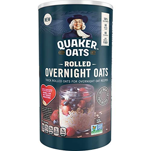 Quaker Rolled Overnight Oats, 19oz Canister