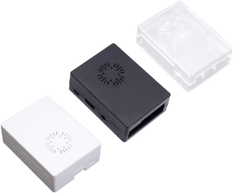 MANMANYU Model B+ ABS Case Black White Transparent Plastic Box Cover Shell Compatible Raspberry Pi 3Model B + Plus Printer Accessories (Color : Black with Fan)