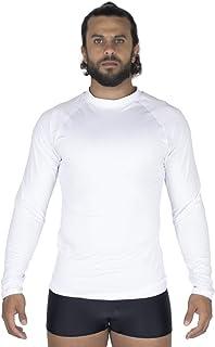 Camisa Blusa Térmica Masculina BOYOU Proteção UV Compressão 037 Branca