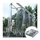 Lona Transparente Impermeable, Los 0.5MM PVC Tarea Pesada Claro Resistente Al Agua A Prueba De Polvo Anti-envejecimiento Lona, Cámping Jardinería Pescar Toldo De Aislamiento LvMyShe