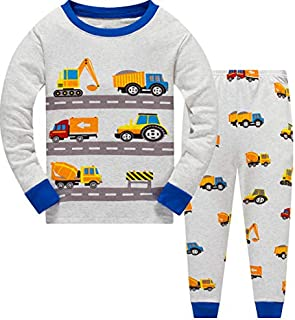 Image of Cotton Truck Pajamas for Boys - See More Styles