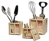 Labyrinth-Design In-Box-Set aus 3 verschachtelten Holz-Schreibtischkisten - Aufbewahrungslösung...