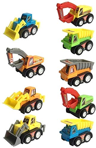 FunBlast Unbreakable Pull Back Vehicles  Push and Go Crawling Toy for Kids & Children, Power Friction Trucks Cars for 3+ Years Old Boys Girls(Set of 9)
