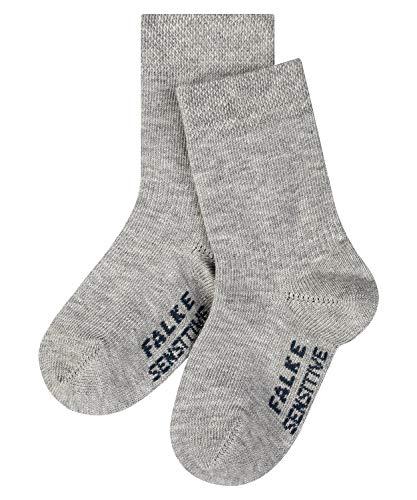 FALKE Unisex Baby Sensitive B SO Socken, Blickdicht, Grau (Light Grey 3400), 62-68