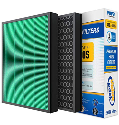 VEVA Complete 2 Premium HEPA Replacement Filter Pack AIRMEGA 400/400S Compatible with CW AirMega Air Purifier