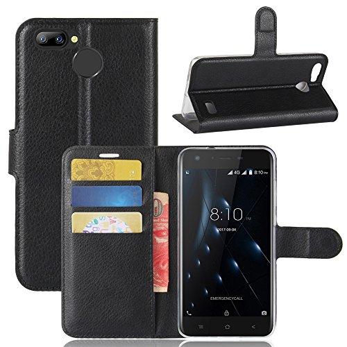 95Street Handyhülle für Blackview A7 Pro Schutzhülle Book Case für Blackview A7 Pro, Hülle Klapphülle Tasche im Retro Wallet Design mit Praktischer Aufstellfunktion - Etui Schwarz