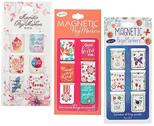 18 Inspirational Magnetic Bookmarks Bundle | for Bible, Book, Planner and Journal