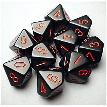 Ten Sided Die d10 Set Chessex Dice Sets: Hurricane Speckled 10 SG/_B001S6Q8GA/_US