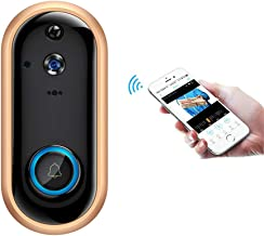 WFGZQ Wireless Video Doorbell, 720P Wireless Home Security Monitoring Rechargeable Battery Camera Mobile Detection Alarm Night Vision Two-Way Audio Android iOS Live Video