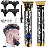Cortapelos profesional para hombre, recortador de precisión, recortador de pelo largo, pantalla LED, recortador eléctrico y dispositivo recargable por USB.