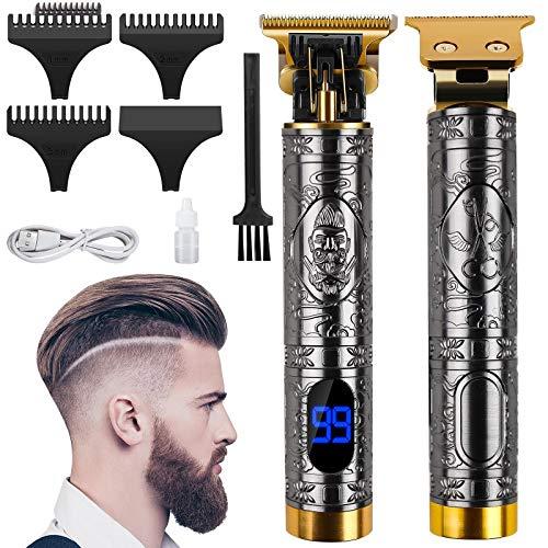 Cortapelos profesional para hombre, cortadora de pelo, cortapelos de precisión, indicador LED, recortador eléctrico con dispositivo recargable por USB
