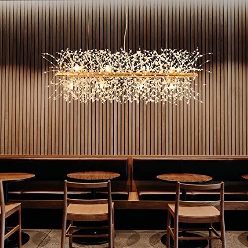 Trongee 35.5'Crystal Chandelier, LED Firework Pendant Light Fixtures,...