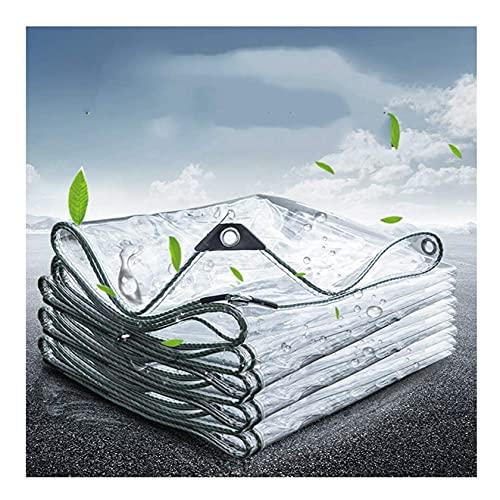 Tarpaulin Clear Lona Transparente Resistente, Lona Impermeable Con Ojales, Cubierta De Lluvia Multifunción Para Exteriores De 0,3 Mm, Carpa De Protección Solar Impermeable Para Ventana De Balcón