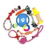 WeFine Puppy <span class='highlight'>Dog</span> <span class='highlight'>Chew</span> Toys Teething Training,10pcs <span class='highlight'>Dog</span> <span class='highlight'>Rope</span> Toys 100% Natural Cotton <span class='highlight'>Rope</span> for Small and Medium <span class='highlight'>Dog</span>