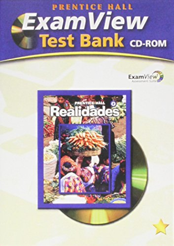 PRENTICE HALL SPANISH REALIDADES EXAMVIEW TESTBANK CD LEVEL 2 2008C