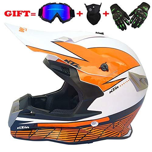 M-GLT MX motorhelm dames fullface motorfiets DH Cross Offroad Enduro mountainbike helm, voor volwassenen en kinderen, bruin, 60~61 cm